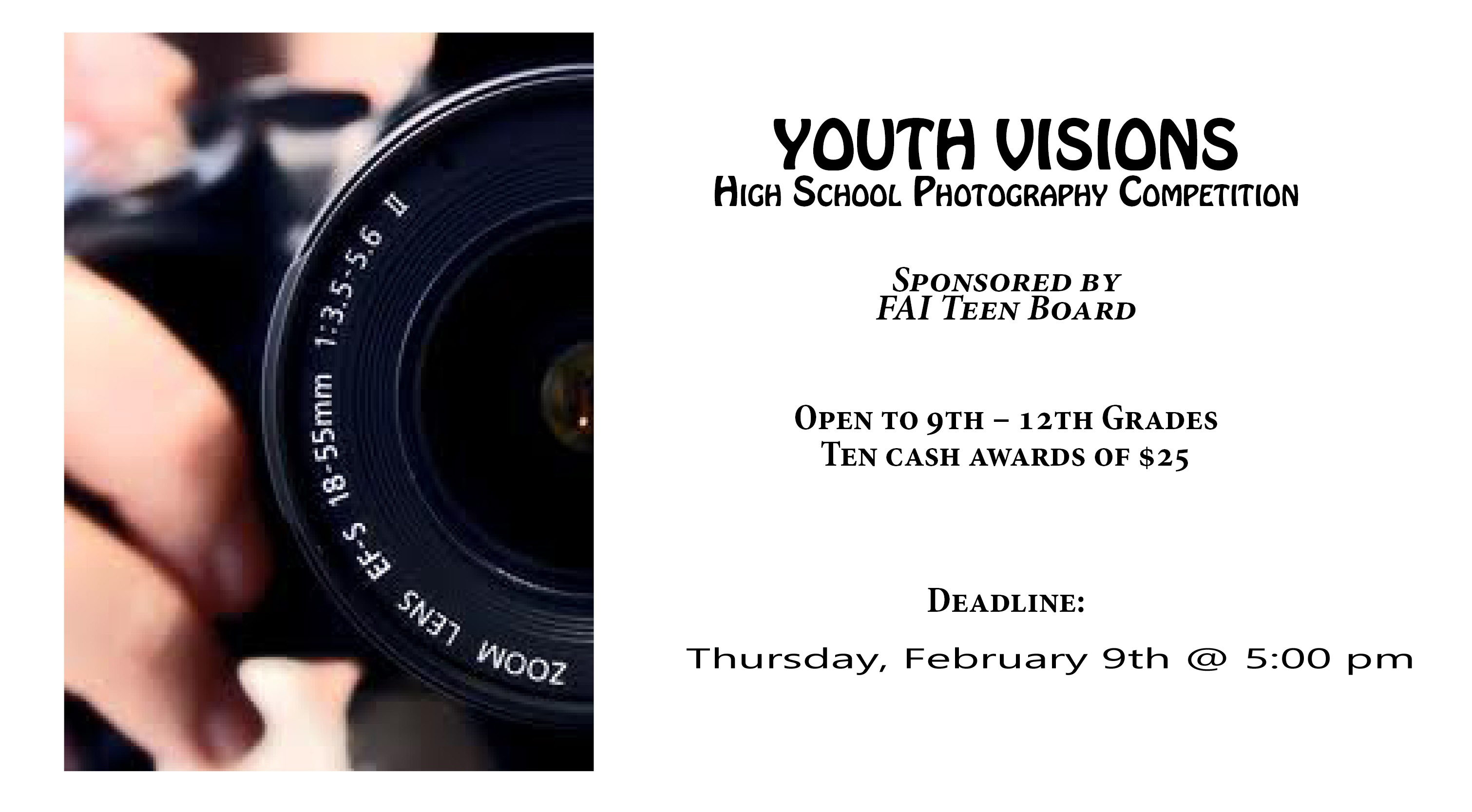 Youth Visions Photography Contest