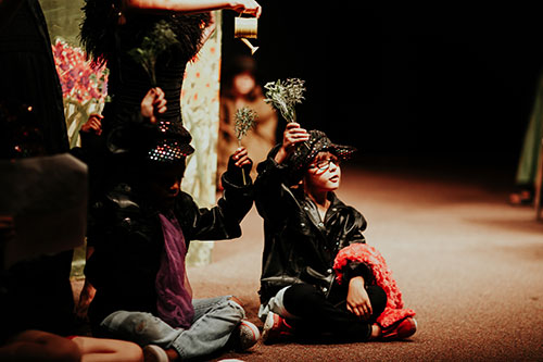 Children performing in a play at Edmond Fine Arts
